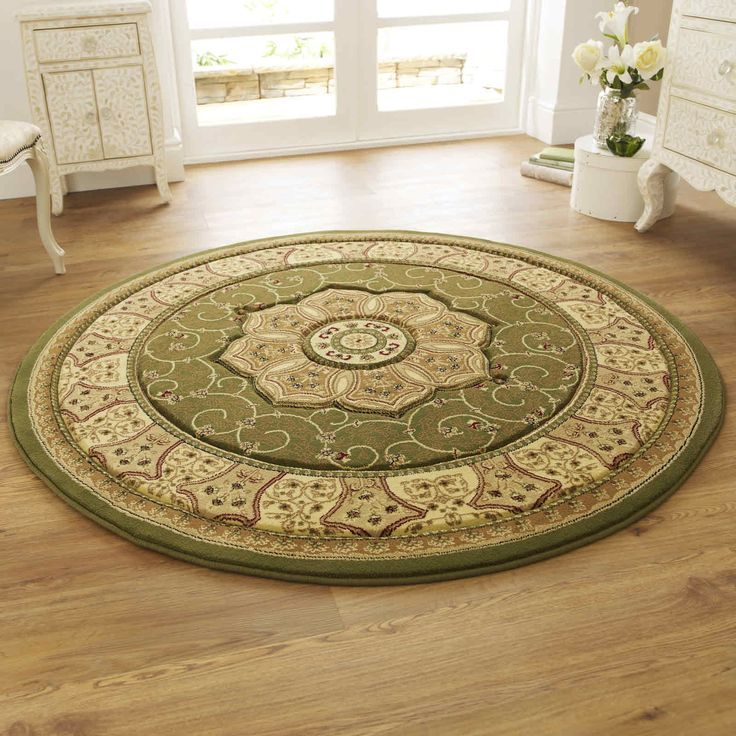 Think out of the box by choosing circular rug