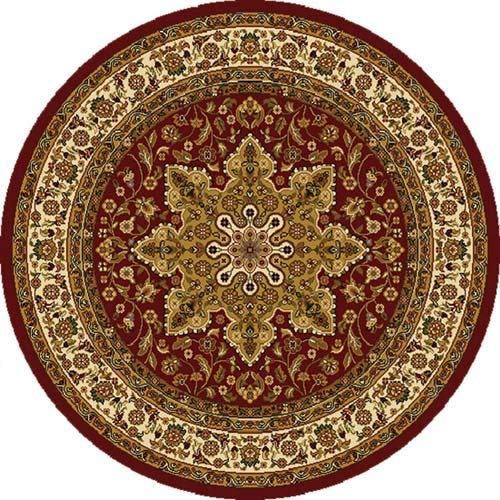 circular rug home dynamix royalty 8083-200 red 5-feet 2-inch round traditional area rug OGZVUBZ