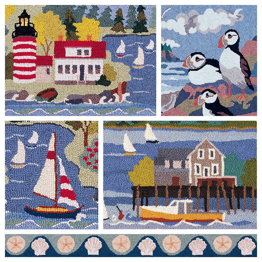 claire murray - coastal village hand hooked rugs . MUUPDJN