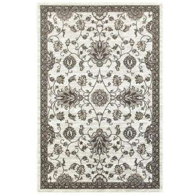 classic white rugs adana white/brown 5 ft. x 7 ft. vibrant indoor area rug BBTNRLT