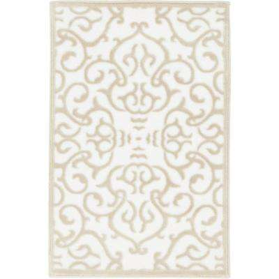 classic white rugs himalaya snow white 2 ft. x 3 ft. area rug ANGUEVD