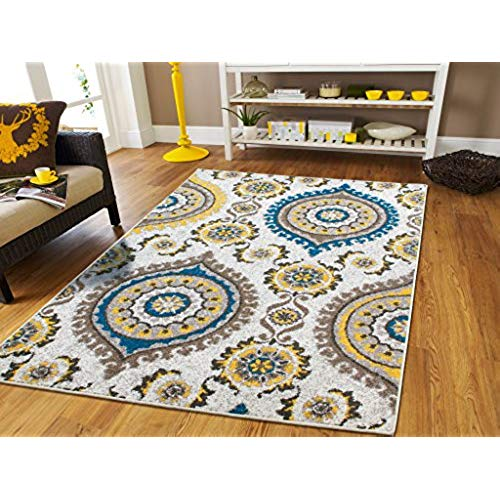 Clearance rugs ... rugs for living room large area rugs blue gray cream modern flowers WMNCBHW