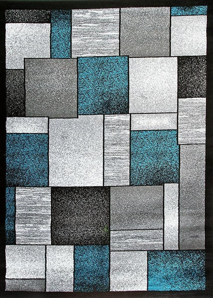 Clearance rugs turquoise gray rug | contemporary area rugs | clearance rugs 5x8 8x11 - DMKSTOX