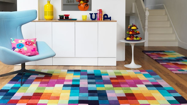 colourful area rug 15 funky and colorful area rugs | home design lover XQQWHGM