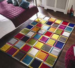 colourful rugs multicoloured rugs - colourful u0026 bright | modern rugs IHVBZZA