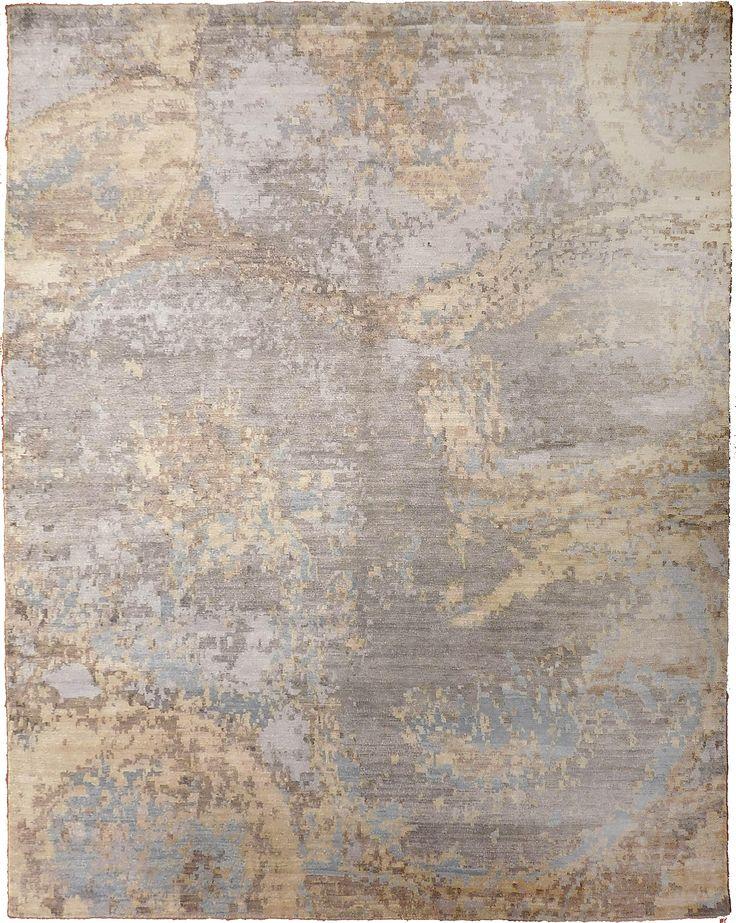 Contemporary affordable rugs modern abstract hand-knotted rug - 7u203210u2033 × 9u203210u2033 TAYDCLP