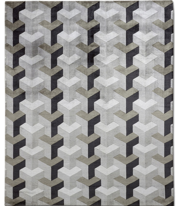contemporary carpets contemporary rug / patterned / wool / silk - ypsilon grey VRTTKTX