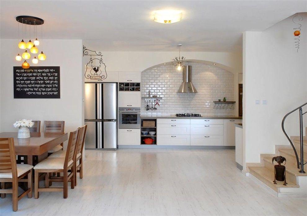Contemporary floor laminating white laminate kitchen flooring HSJFTBT