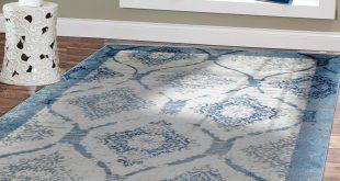 contemporary rug amazon.com: contemporary rugs for living room 5x8 blue area rug modern rugs LRLFZRQ
