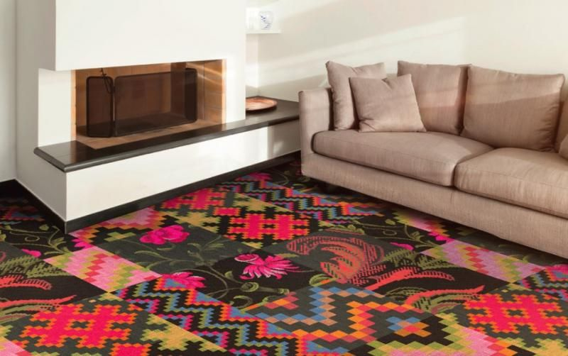 Custom designed carpets multibarevný vzorovaný tištěný koberec m2 carpets s vlastním designem. / custom  designed RIDBYFR