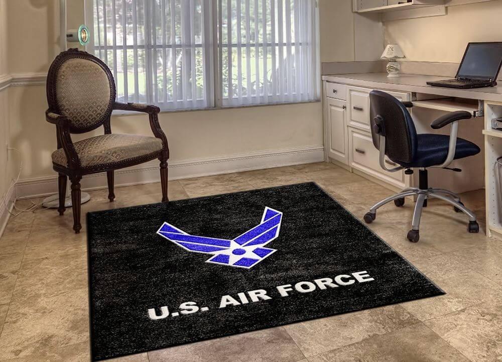 custom rug manufacturers military logo rugs DUFEIXS