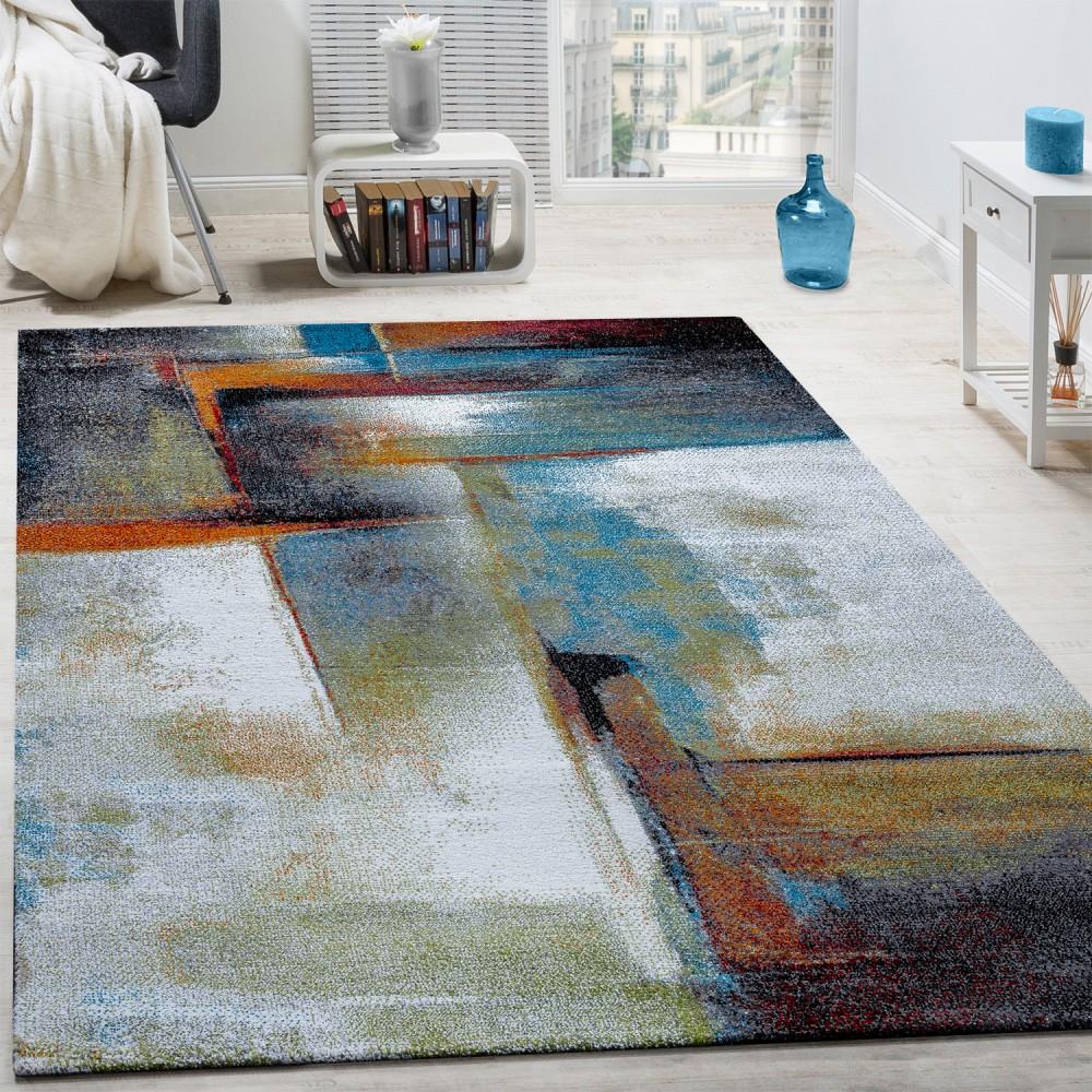 designer carpet modern rug chequered trendy mottled in beige brown grey BLKOTZK