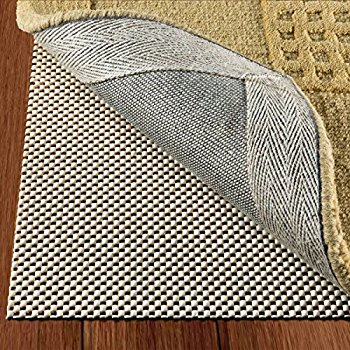 doublecheck products non slip area rug pad size 4u0027 x 6u0027 extra strong EJNQBUF