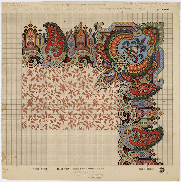 drawing pattern after a carpet design from 1850-1860 by m.d. renssen, 1905 / EBFMSRL