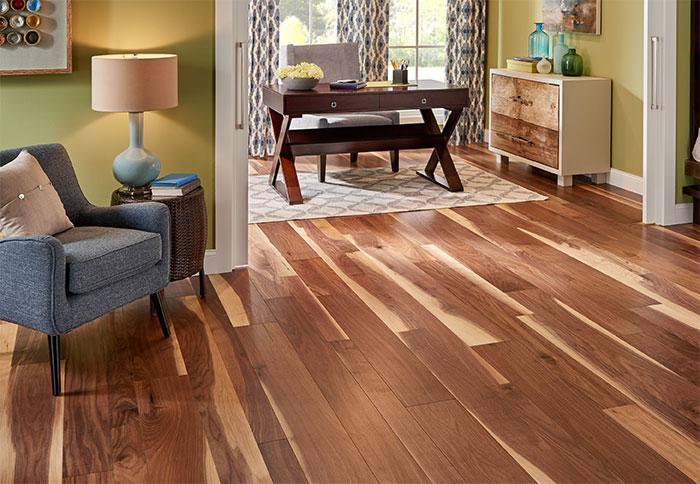 engineered wood floors a walnut engineered wood floor in a living room. JAOONOI