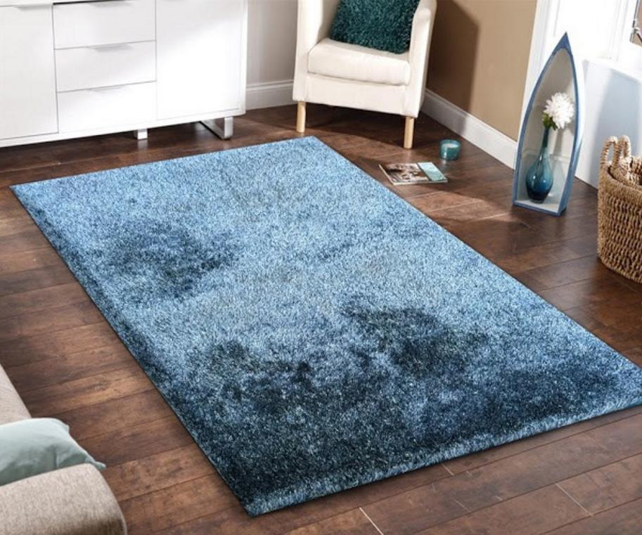 Floor rug 5x7 amore blue shag floor rug EULXDBR