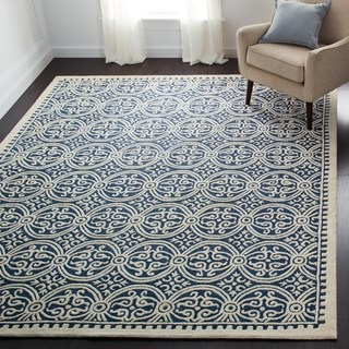 Floor rug safavieh handmade moroccan cambridge navy blue wool rug (more options  available) WUTVBXE