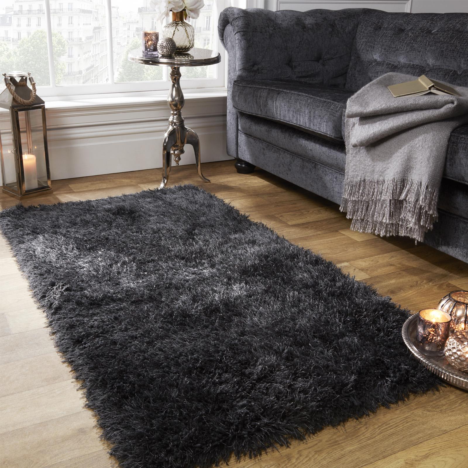 Floor rug sienna-large-shaggy-floor-rug-plain-soft-sparkle- GBVSWTY