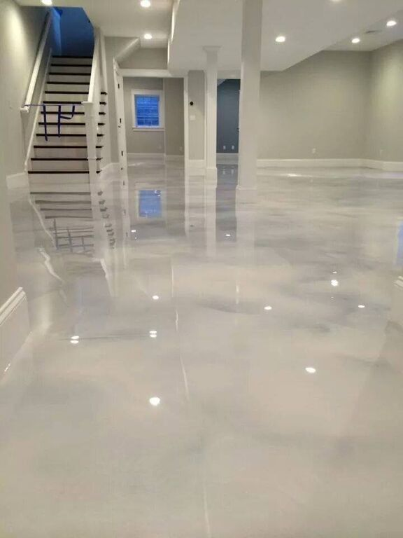 flooring concrete pearl white epoxy (concrete) floor RHXCNKS