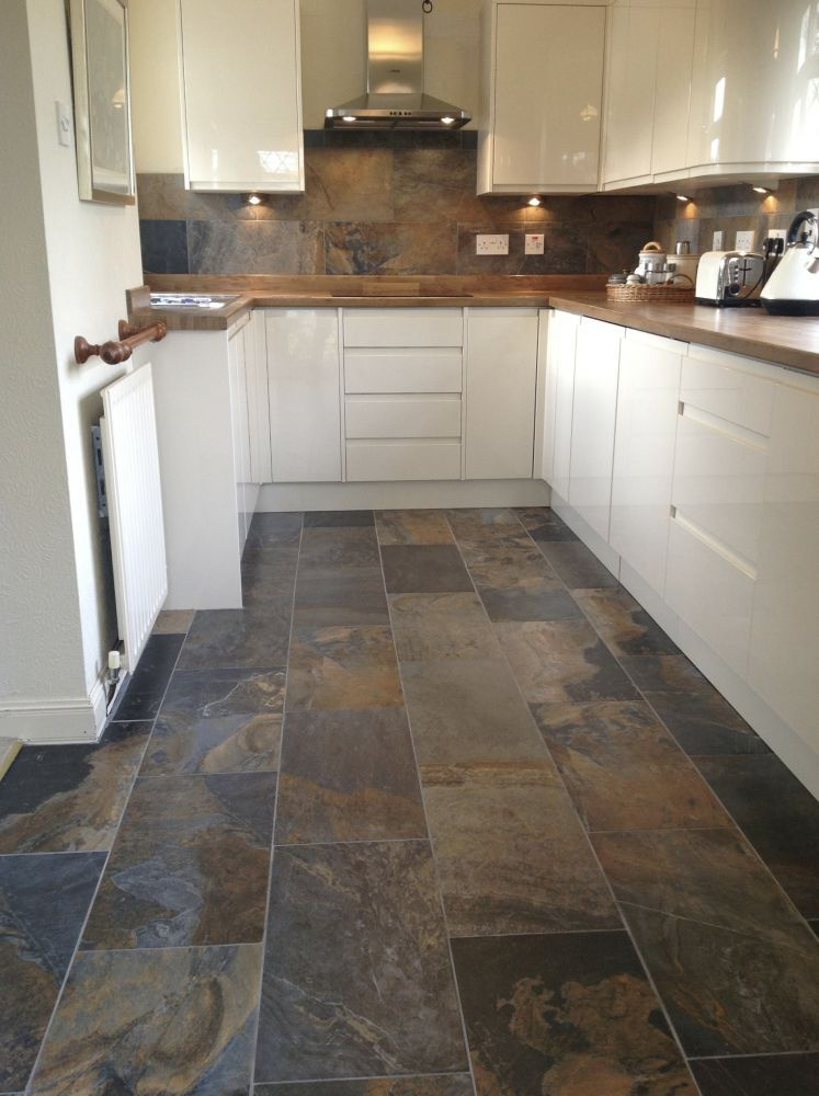 flooring tile in kitchen slate kitchen flooring may be your answer to durability, beauty, and style IQDDZSW