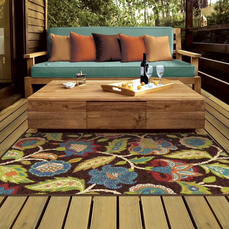 gilson brown indoor/outdoor area rug XRMQUJC