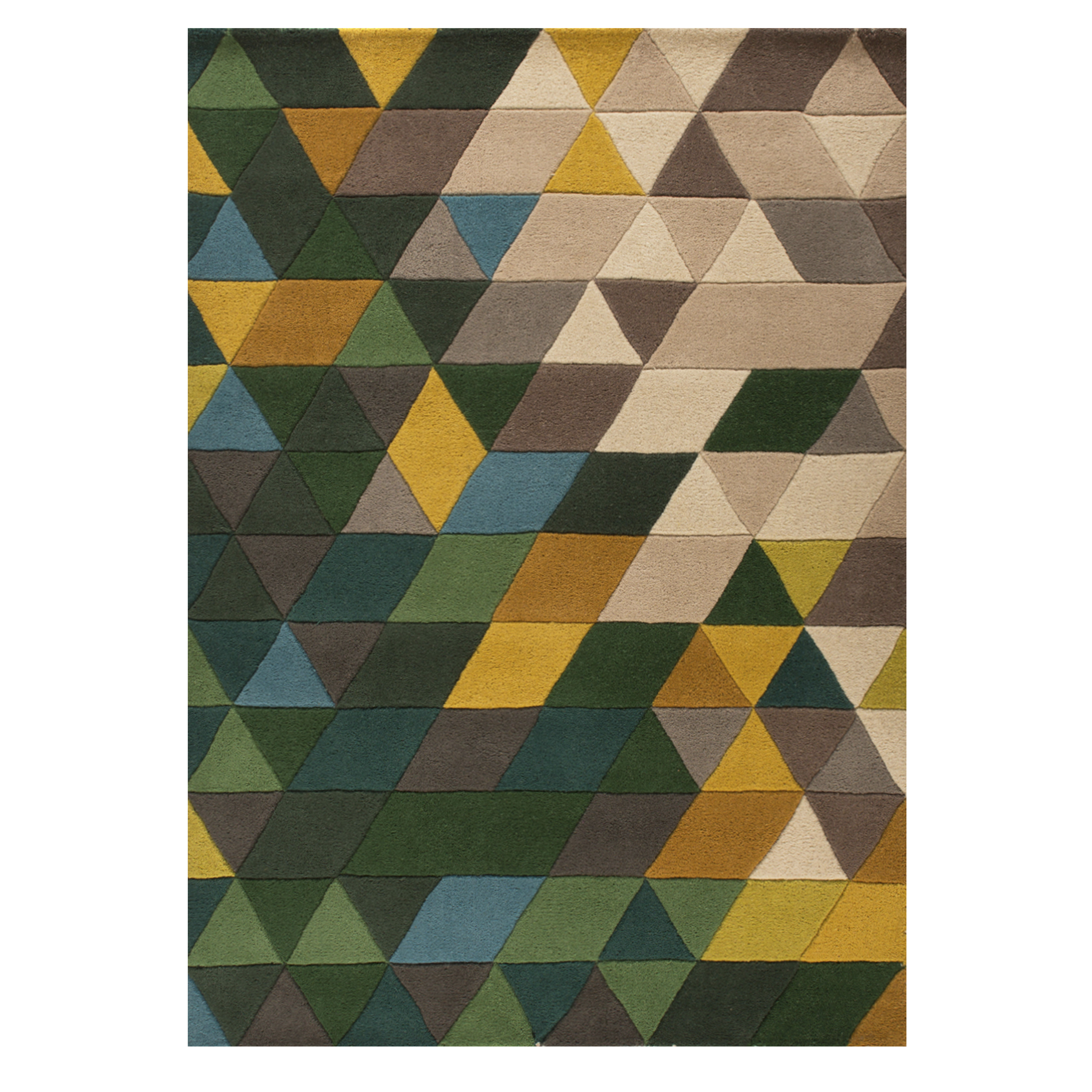 green carved trellis geometric contemporary rug | kukoon HDCSPYB