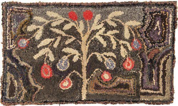 hand hooked rugs american hooked rug, late c., 19 x 33 1 : lot 859 MLRZHUZ