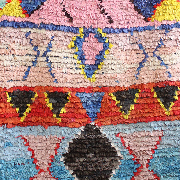 handmade rug moroccan boucherouite rug colourful rug multicolor WQESZCX