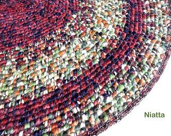 Handmade woven rugs crochet handmade mat, rug, rugs, woven rug, oval, pet bed, carpet, floor ZKBGISD