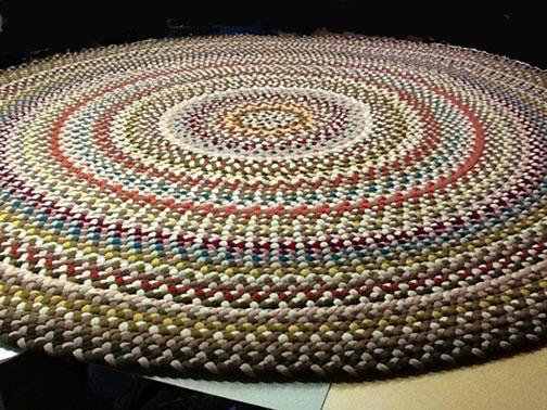 Handmade woven rugs handmade braided rugs by marge:an 11u0027 round braided rug.  CDNJQCH