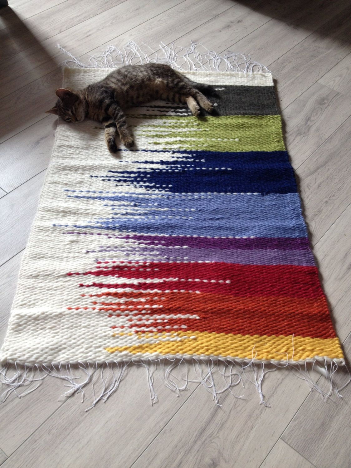 Handmade woven rugs woven rug/100% wool rug/loom woven rag rugs/shaggy rug/recycled rugs/handmade  woven rug/colorful scraps/hand JCULUYX
