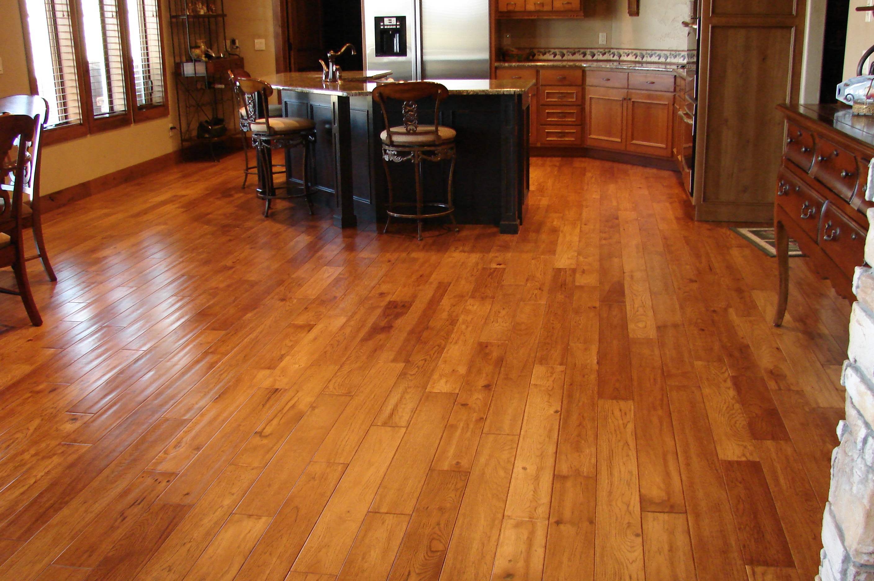 hard wood floors big kitchen hardwood floor ZVGKEQF
