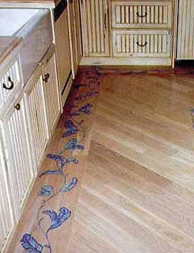 hardwood floor designs ... stenciled wood floor border KRRNNCU