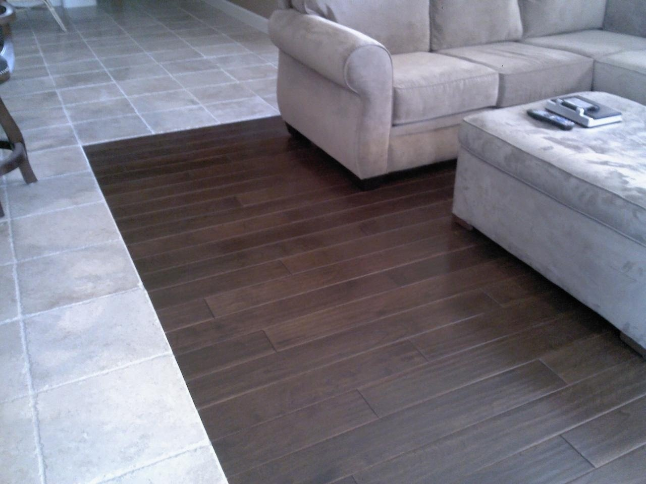 hardwood floor tiles hardwood and tile combination flooring - youtube PWPKTKC