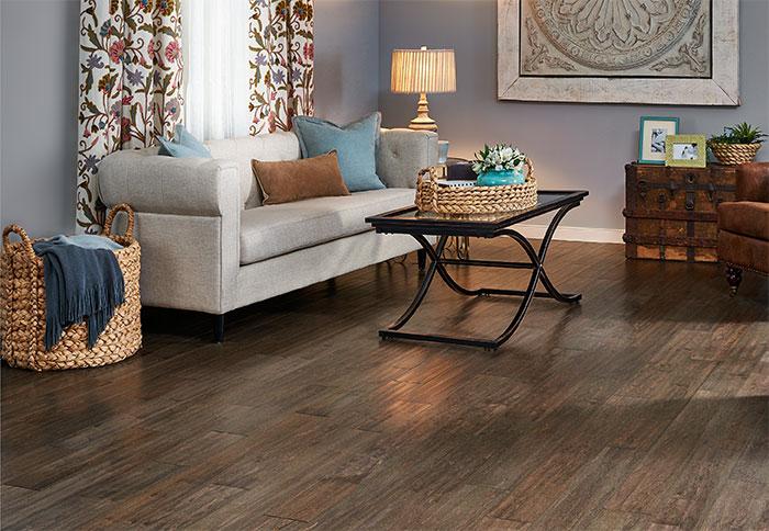 hardwood flooring ideas engineered flooring with an aged look in a living room. HIGJWYR