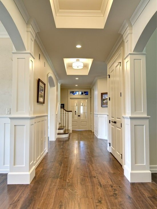 hardwood flooring ideas walnut hardwood floors against white walls and doors - beautiful PPYRYQR