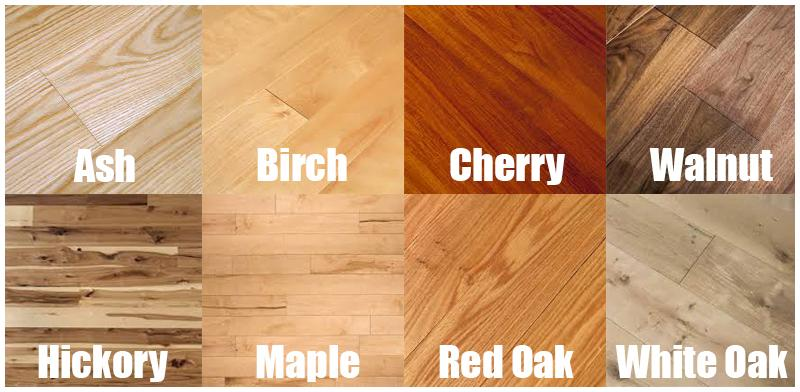 hardwood flooring types color grid for different types of hardwood flooring FAKQCQE