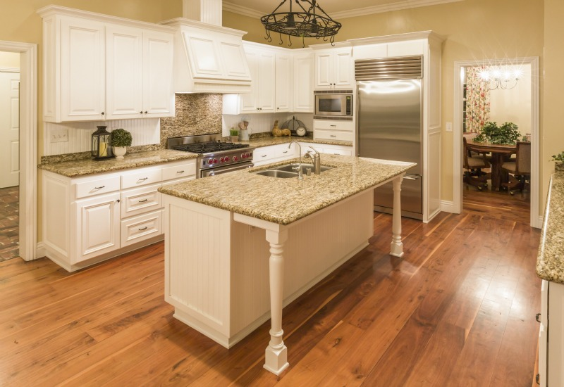hardwood floors in kitchen pros and cons of kitchens with wood floors IJNSQGO