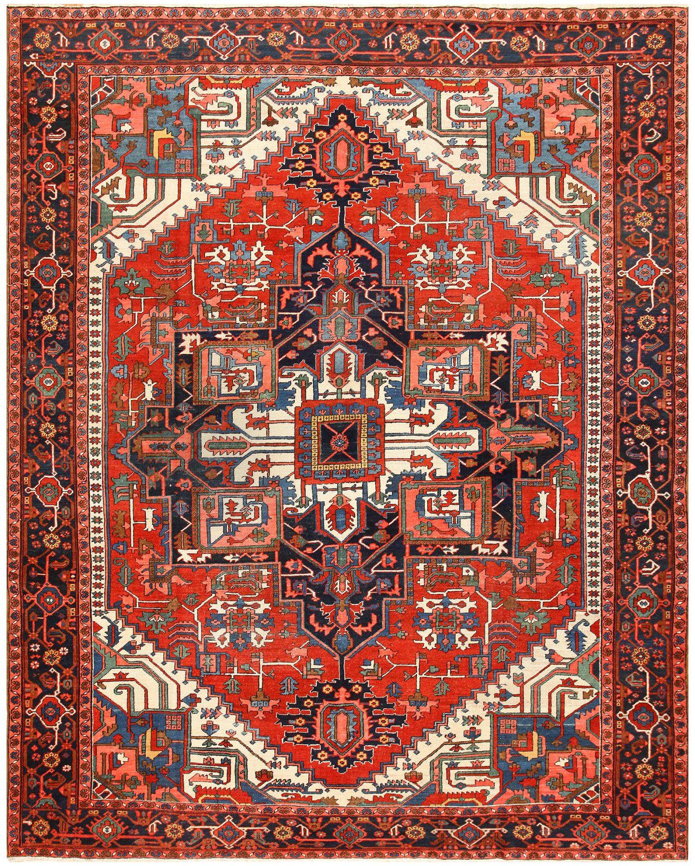heriz rugs antique persian heriz rug 48468 detail/large view OPGUQTI