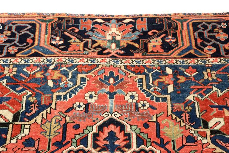 heriz rugs heriz serapi vibrant authentic semi-antique heriz rug, circa 1920-1930 for  sale FOZYQAJ