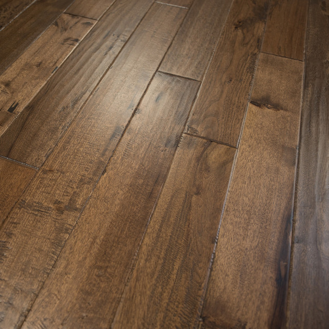 hickory hand scraped prefinished solid wood flooring, sample ERGGZBX