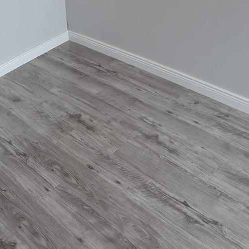 high gloss laminate flooring varnished grey gloss wooden floor TYZERVU