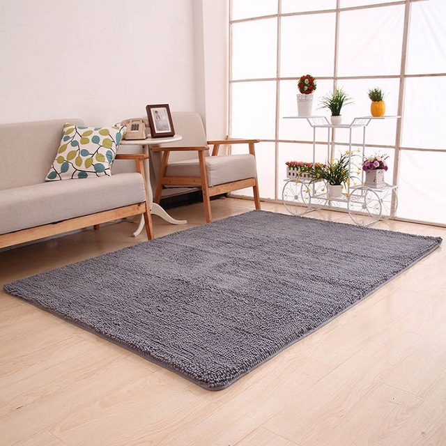high quality carpets 40x60cm high quality carpet soft solid carpet chenille water absorption  bathroom mats YYRCMNV