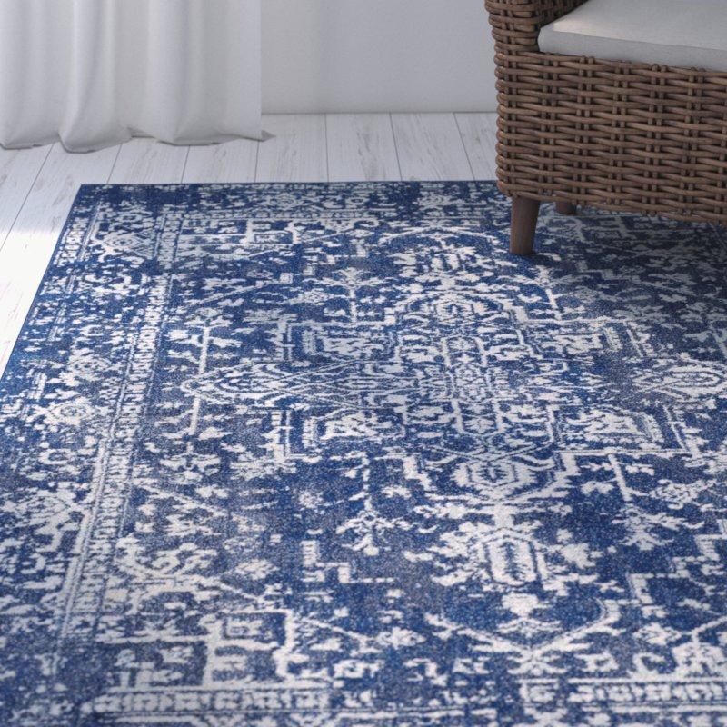 hillsby geometric blue area rug MDXWYLM