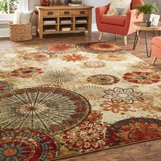 home rugs mohawk home strata caravan medallion multi (10u0027 square) area rug - 10u0027 XBMHICW