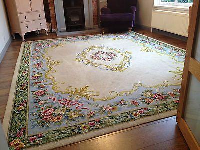 huge rug beautiful huge shabby chic 9u0027 x 12u0027 french wool rug vintage antique floral BEBPPFG