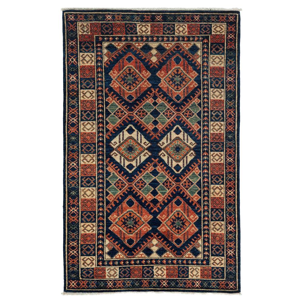 imara rust indigo woven wool tribal rug - 4u00271 x 6u00276 | kathy QCCVYWQ