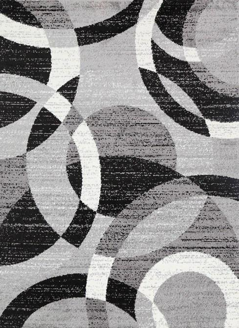 incredible modern rug intended for priya 095 grey black rugtastic decor 8 XAVKFSU