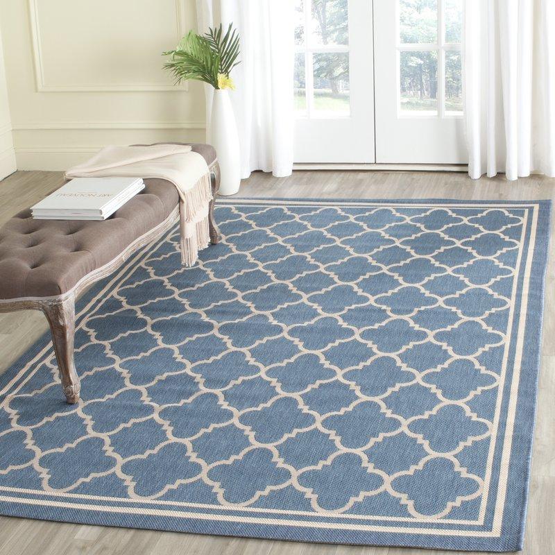 indoor outdoor area rugs bexton blue indoor/outdoor area rug ETIWTRK