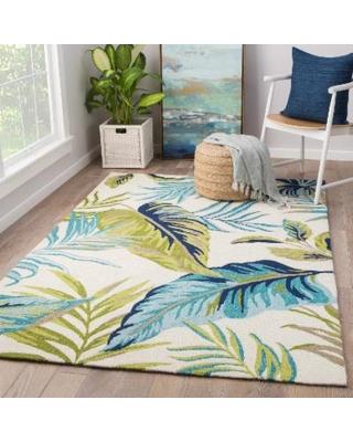 indoor outdoor area rugs havenside home folly montego blue/ green floral indoor/ outdoor area rug (5u0027 QLVSFLT